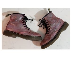Dr.Martens Delaney Pink Iridescent Crackle Boot
